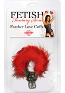 Fetish Fantasy Series Feather Love Cuffs Red