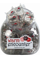 Warm Encounter Warming Gel Water Based Lubricant Pillow Packs 144 Per Bowl