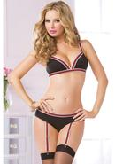 Two Piece Bra And Panty Set-black-o/s