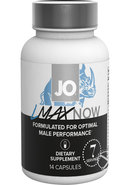 Jo Lmax Now Male Performance Dietary Supplement 14 Capsules Per Bottle