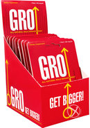 Gro All Natural Male Enhancement Pill 24 Single Packs Per...