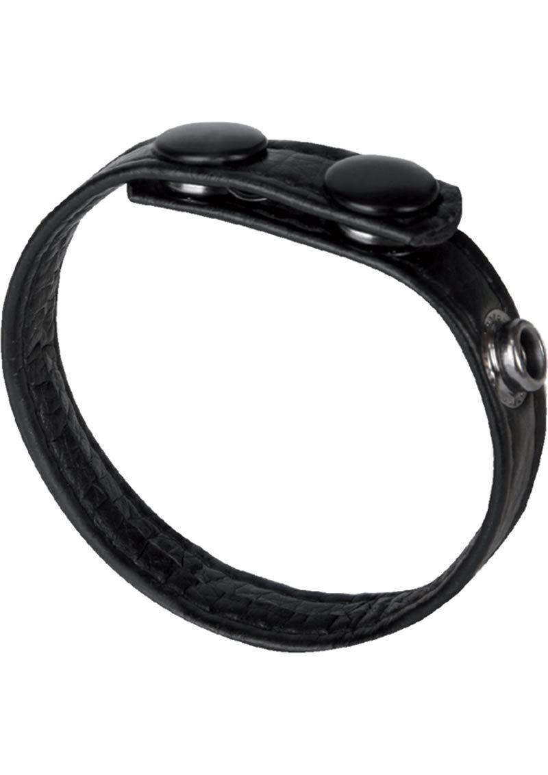 Macho 3 Snap Cock Ring Adjustable Black