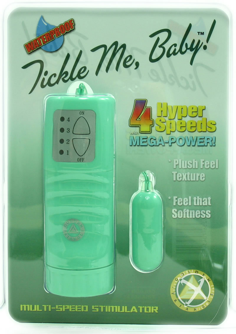Tickle Me Baby With 4 Hyper Speeds Green With Remote Waterproof